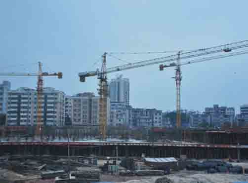 Qtz160 Self-Erecting Topless Construction Building Tower Crane