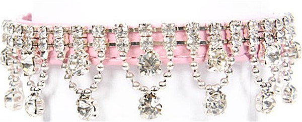 Pink Fashion Bling Pet Collar, Dog necklace Collar