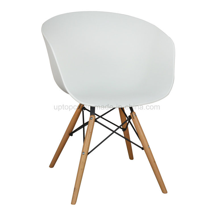 Famous Design European Imported Beech Wood Plastic Round Chair (SP-UC518)
