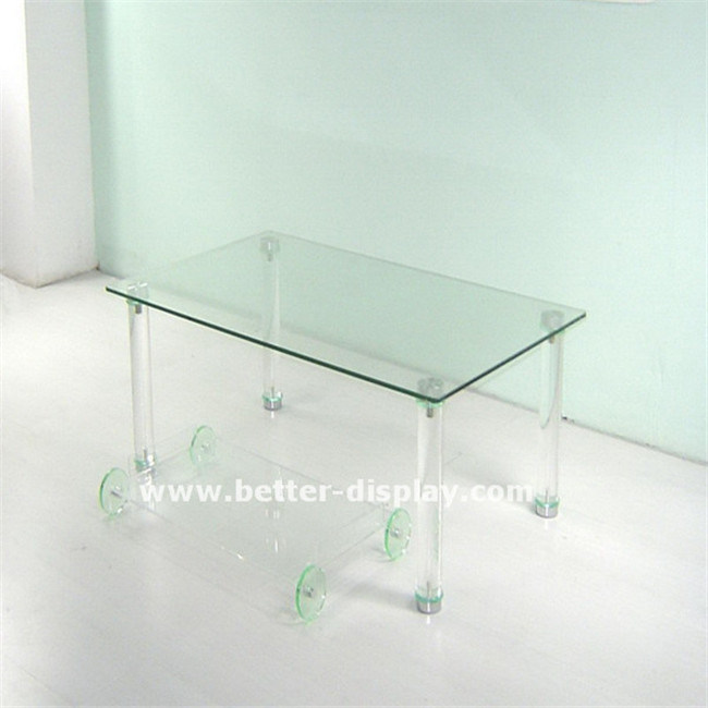 Clear Organic Glass Coffee Table (BTR-A1010)