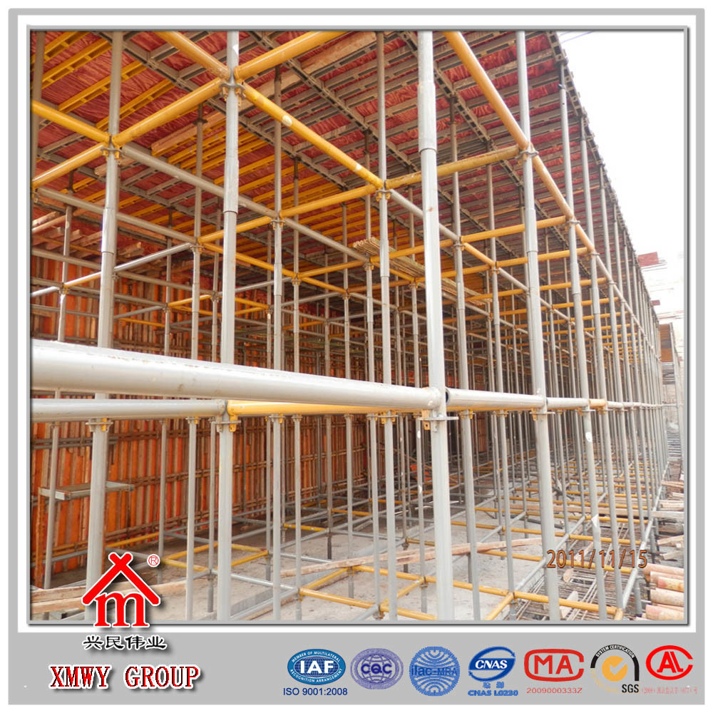 Q235 Bearing Concrete Construction Steel Pipe Ringlock Scaffold