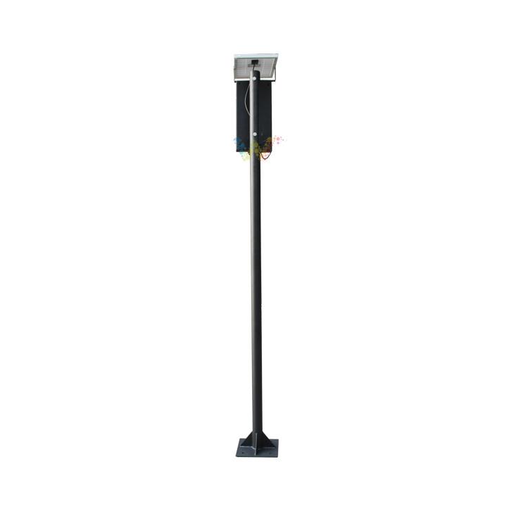 Customized 125mm Pedestrian Signal with Pole Solar Traffic Light