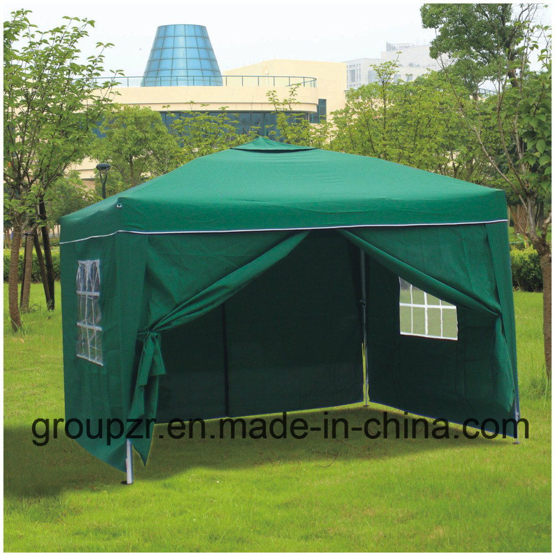 Folding Steel Gazebo with Sidewall