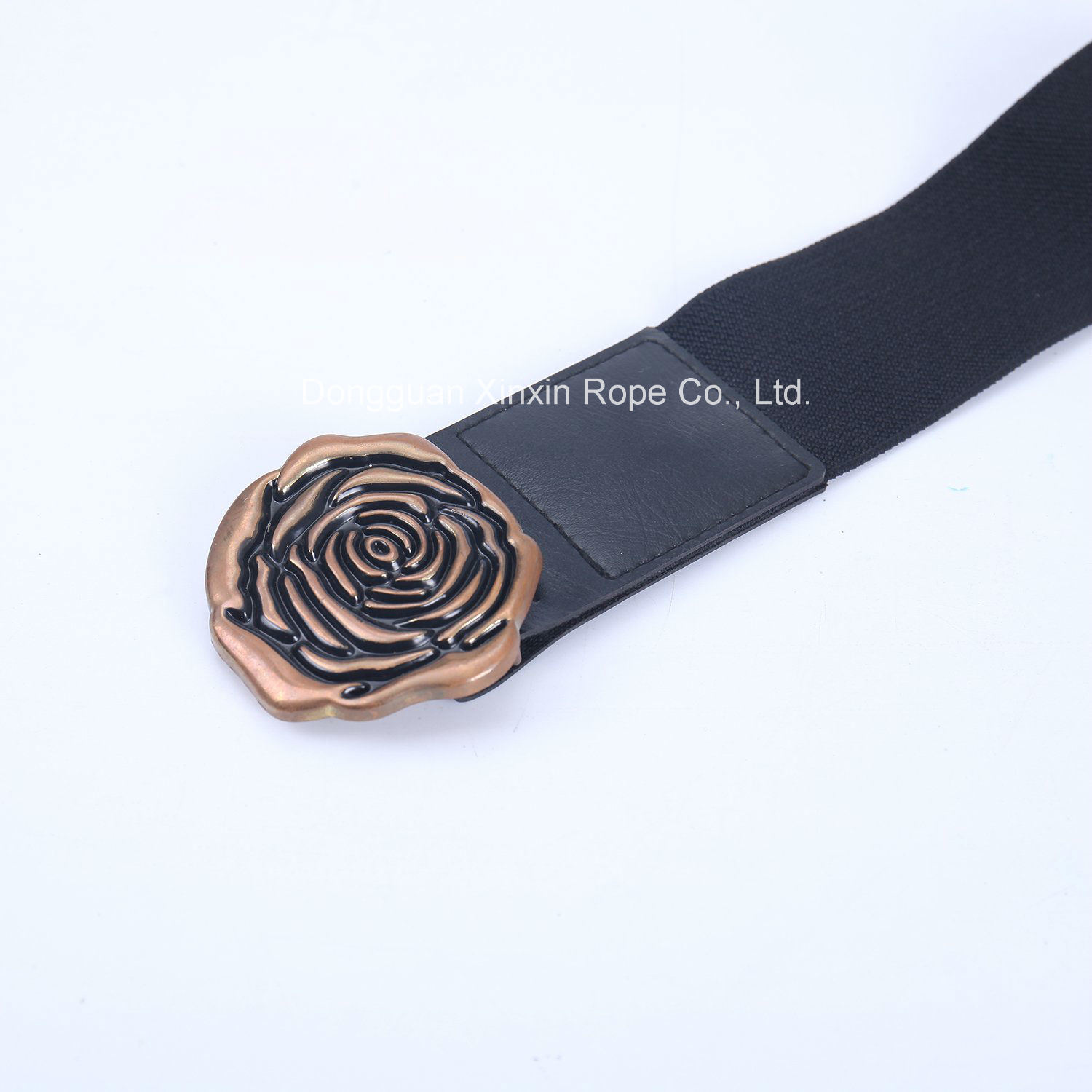 Rose Pin Buckle Spandex Fashion Clothes Ornament PU Leather Belt