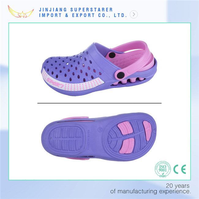 Two Tone Holey Breathable Women EVA Garden Clogs