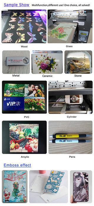 A3 Size 6 Colors UV LED Printing Machine