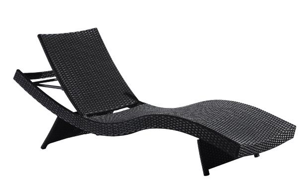 Garden Rattan/Wicker Wave Sun Lounge Set for Outdoor Furniture (LN-912)
