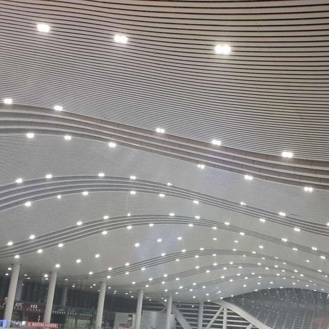 Aluminum U Profile Baffle Suspended Ceiling with Fashioned Design
