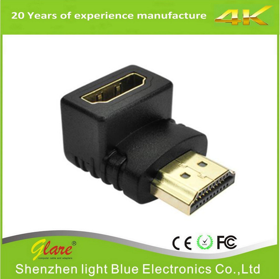 Right Angle Male to Female HDMI Adapter