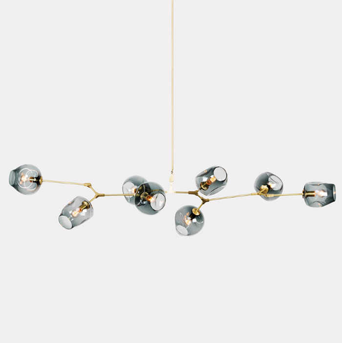 Popular Modern Contemporary Gold Glass Hanging Pendant Lamp Lights Lighting for Kitchen /Dining Room