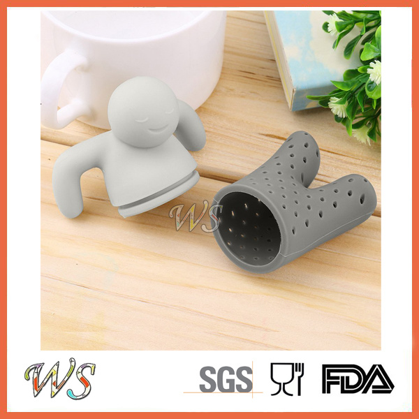 Ws-If050 Mr Tea Infuser Silicone Tea Filter Food Grade
