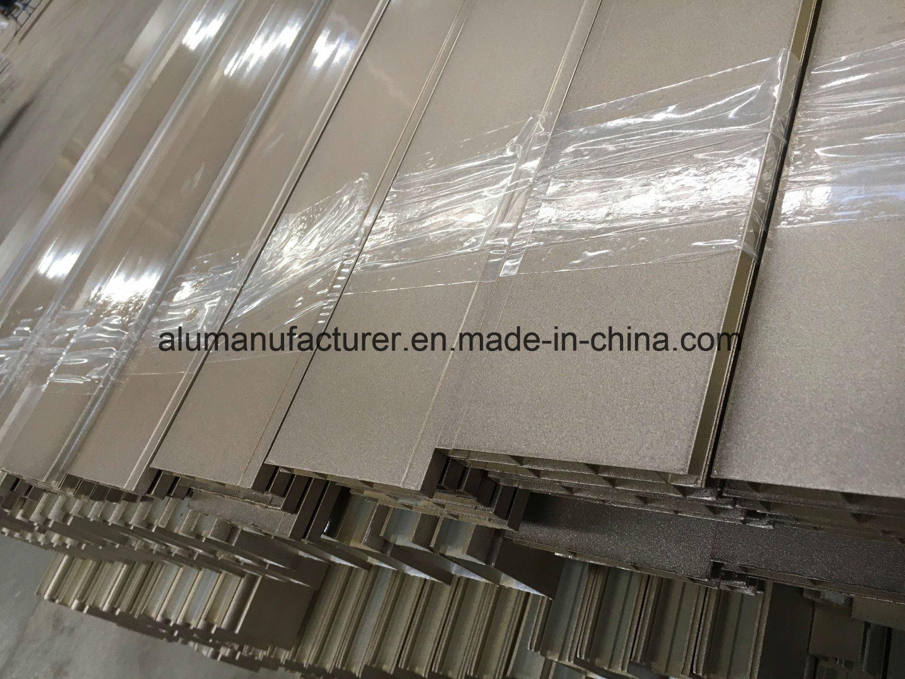 Metalic Powder Coated Aluminium Alloy Extrusion Profile for Door and Window