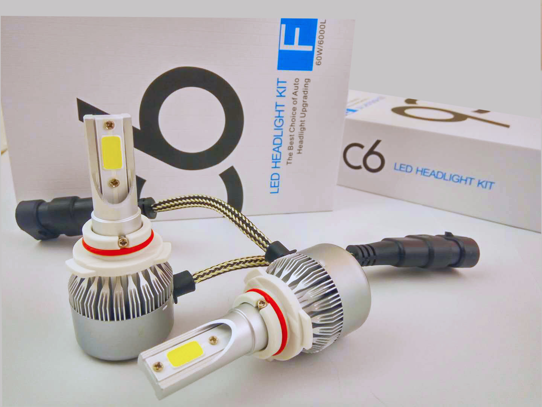 C6 COB Cars LED Headlight Motorcycle LED Headlight Auto Parts H4 H13 9004 (9007) H1 H3 H7 H8 H9 H11 9005hb4 9006hb3 880 881 H15 9012