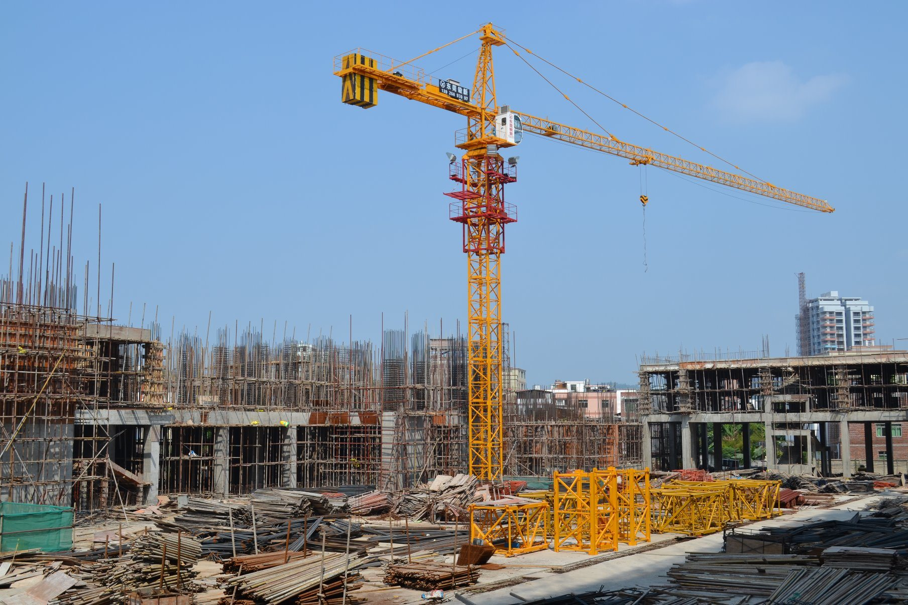 Qtz160 Self-Erecting Topless Construction Building Tower Crane