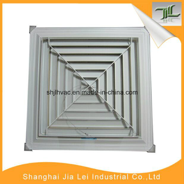 Square Diffuser 4 Way Air Terminal Air Conditioning Grille Return Diffuser