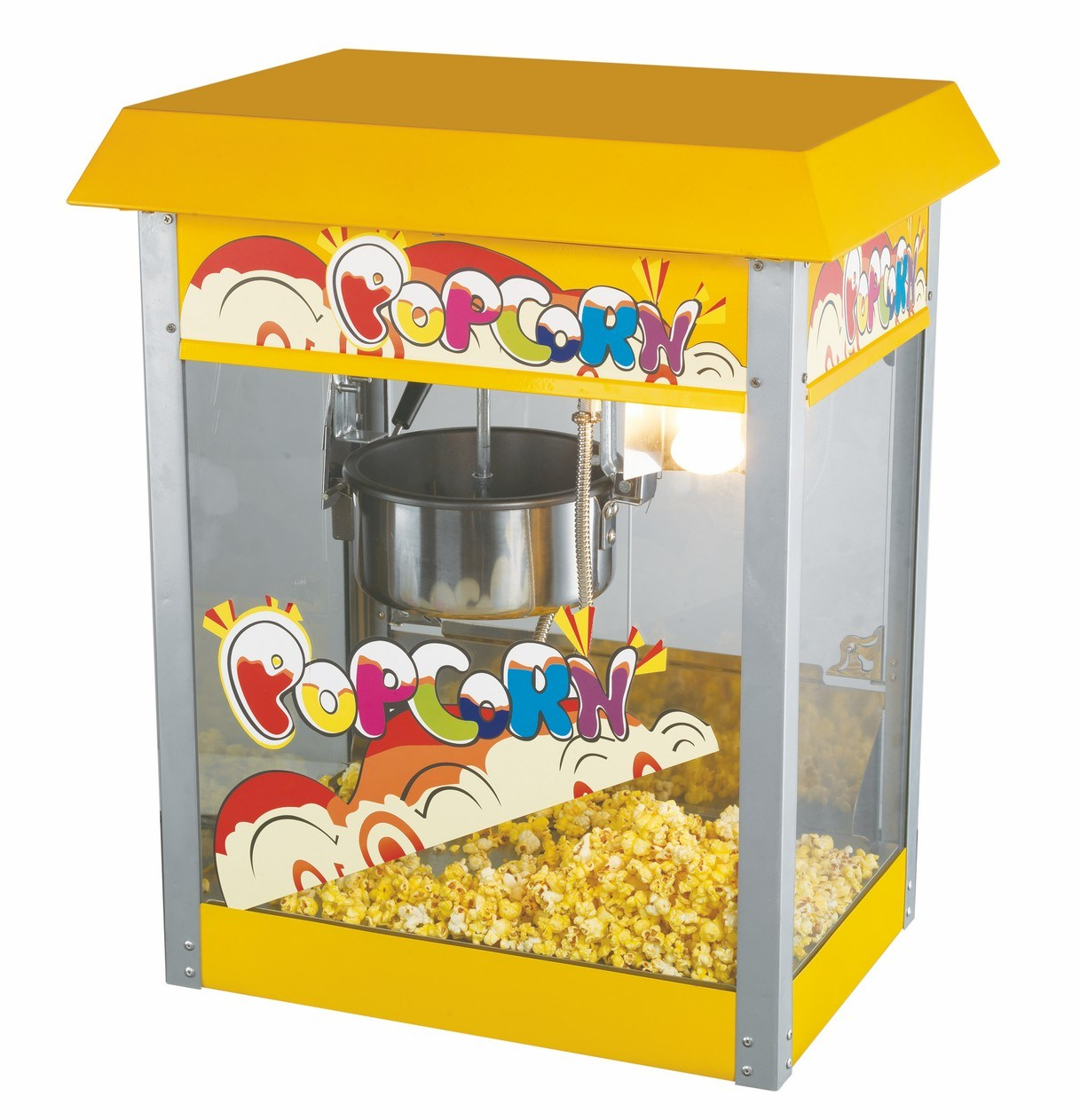 24 Oz Floor Stand Popcorn Machine with Wheel