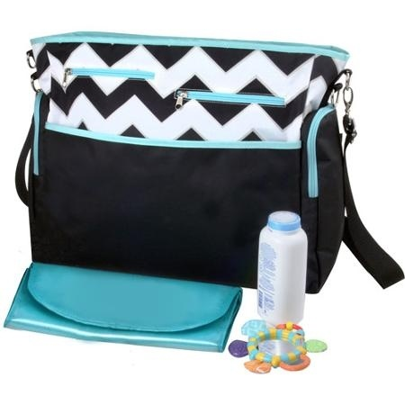 Promotional Baby Diaper Bags with Big Front Pockets and with Hook