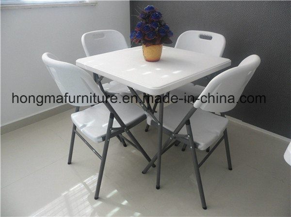 80cm Plastic Square Folding Table for Weekend Picnic Use