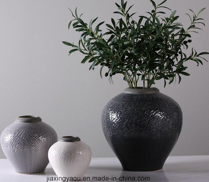 Glassy Surface Floor-Type Ceramic Flowerpot