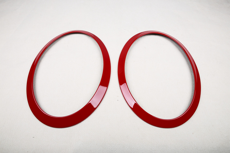 Red Color Head&Rear Lamp Rims Covers Mini Cooper F56 (4 PCS/set)