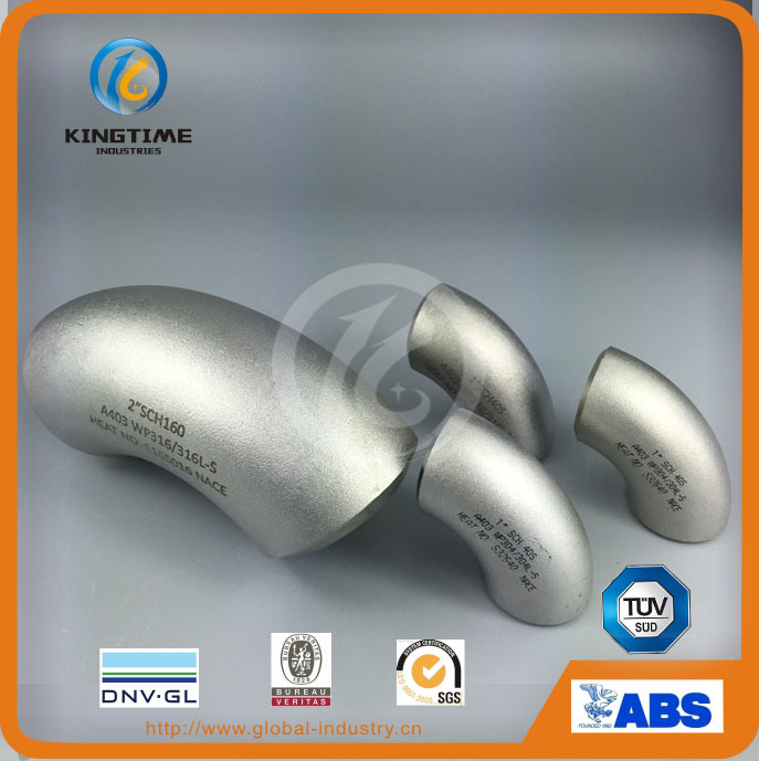 ASME B16.9 Stainless Steel Pipe Fitting Wp316 90d Elbow (KT0201)