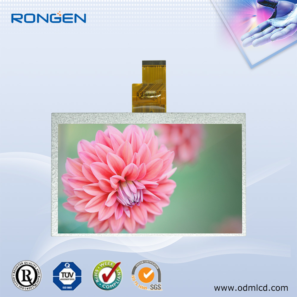 ODM Innolux 7 Inch Screen LCD Display/1024X600 with High Resolution 40pin Ttl