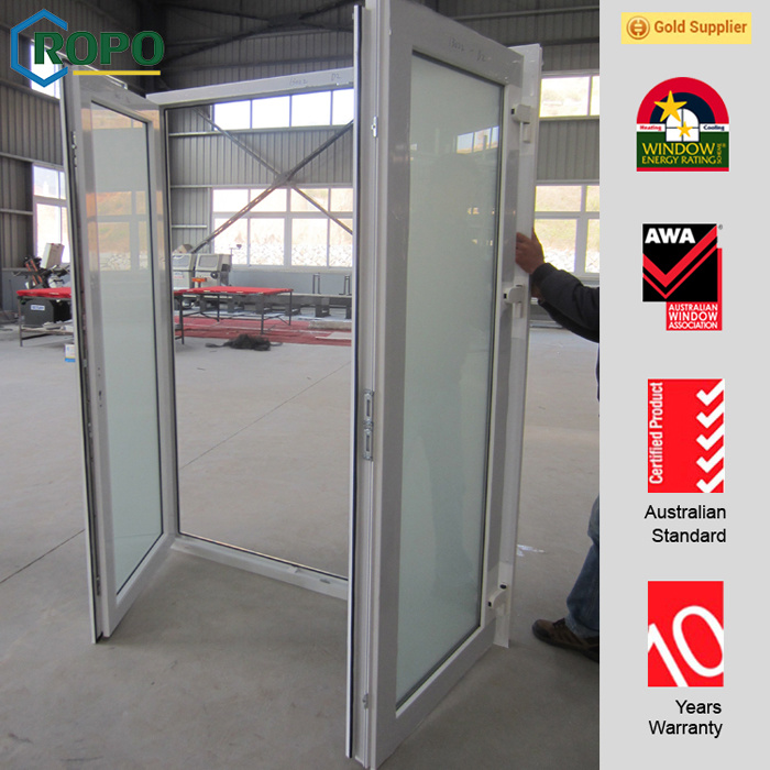 Eurepean Style UPVC Casement/French Doors with Double Glass