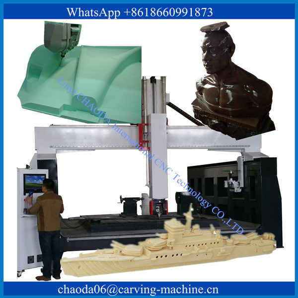 Simultaneous 5 Axis Big Rotary CNC Router Woodworking Machine 3D CNC Router Machine