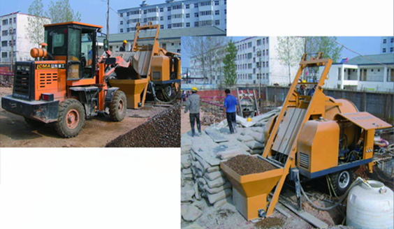 Diesel Concrete Pump with Mixer