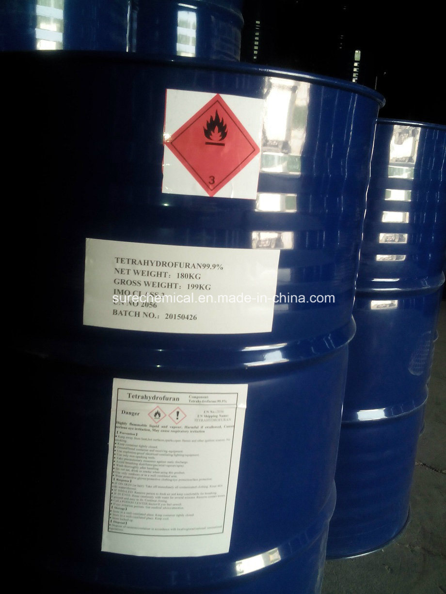 Pharmeutical Chemical Tetrahydrofuran for Solvent 99.9%
