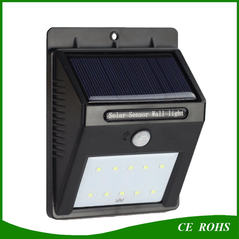 Update Solar Light IP65 PIR Motion Sensor 16LED Solar Garden Wall Light