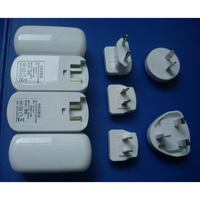 EU Us UK Au Plug Interchangeable Muliti Plug Electrical USB Power Adapter