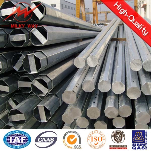 Galvanized Steel Electrical Utility Pole