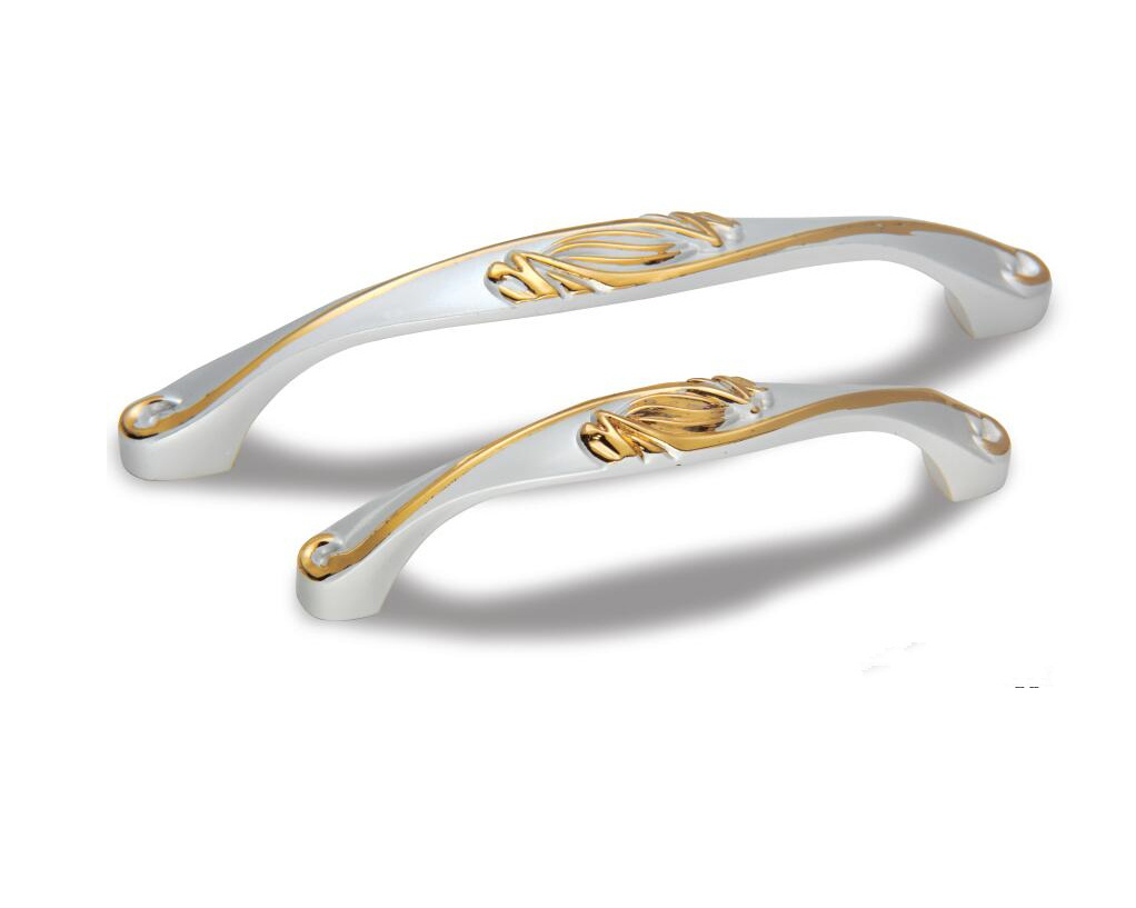 Golden & Ivory Finish Zinc Alloy Cabinet Handle Ah-1124