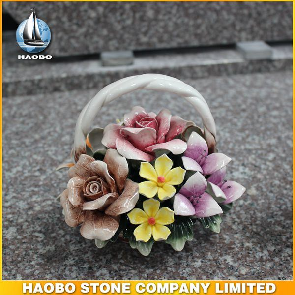 Tombstone Ceramic Flower Basket Wholesale