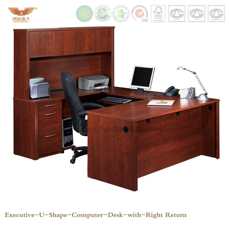 Modern Office Furniture Wooden Executive U Shape Computer Desk (HY-U01)