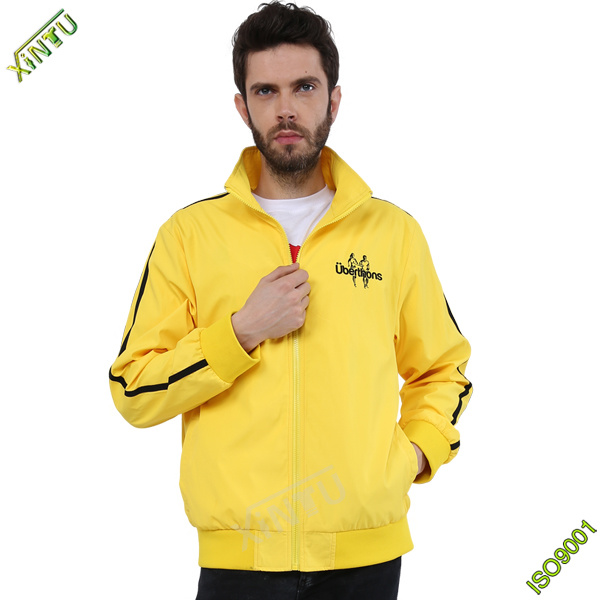 2016 Yellow Color Sports Style Waterproof Brands Men Jackets