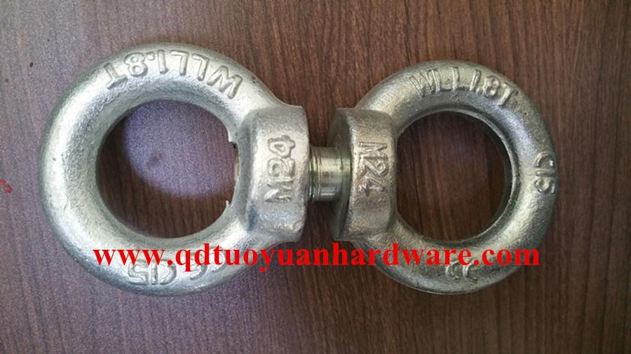 Heavy Duty Zinc Plated DIN580 Eye Bolt with DIN582 Eye Nut