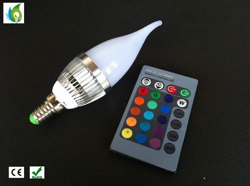 RGB LED Remote Candle Bulbs E27 E14 B22 Holiday Lights with 120 Degree Beam Angle for Party Lamps