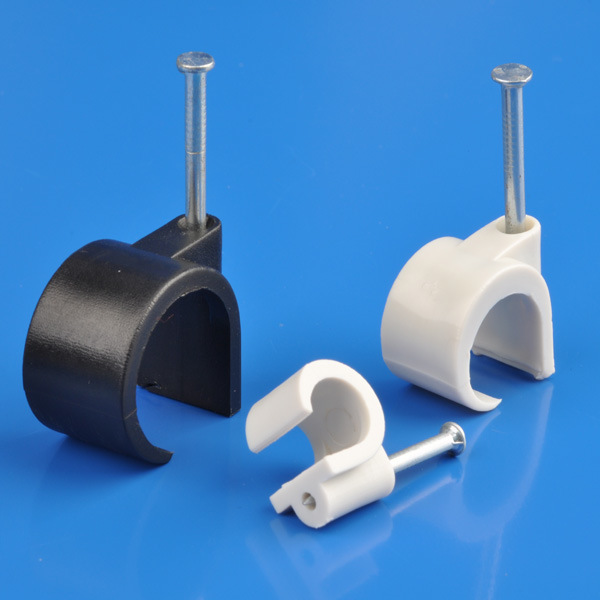 White Coaxial Cable Clips