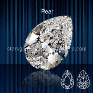 High Quality Pear Shape Brilliant Cut Cubic Zirconia