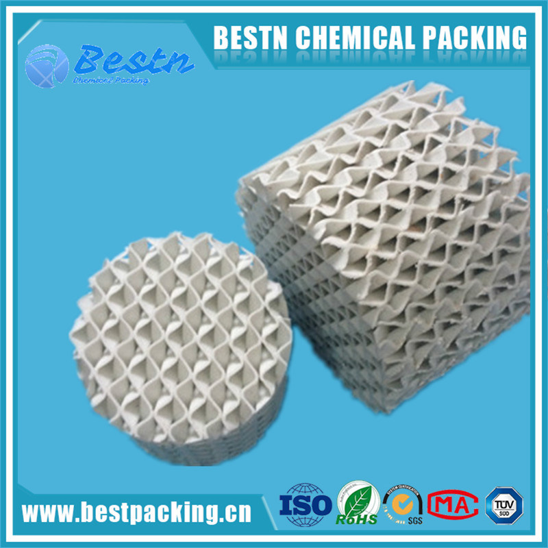 Ceramic Structured Packing with Good Resistance as Mass Transfer Media
