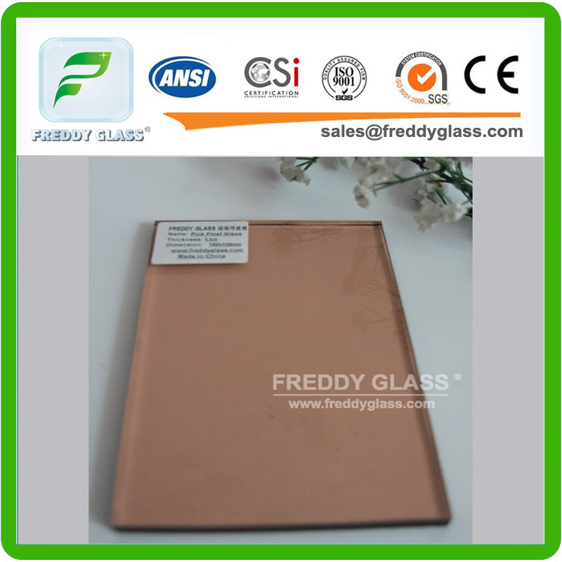 Pink Tinted Glass/Tinted Float Glass/Window Glass/Building Glass with CE&ISO