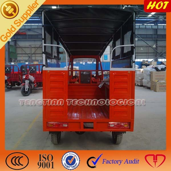 China High Quality Closed Adults 6 People Passenger Tricycle
