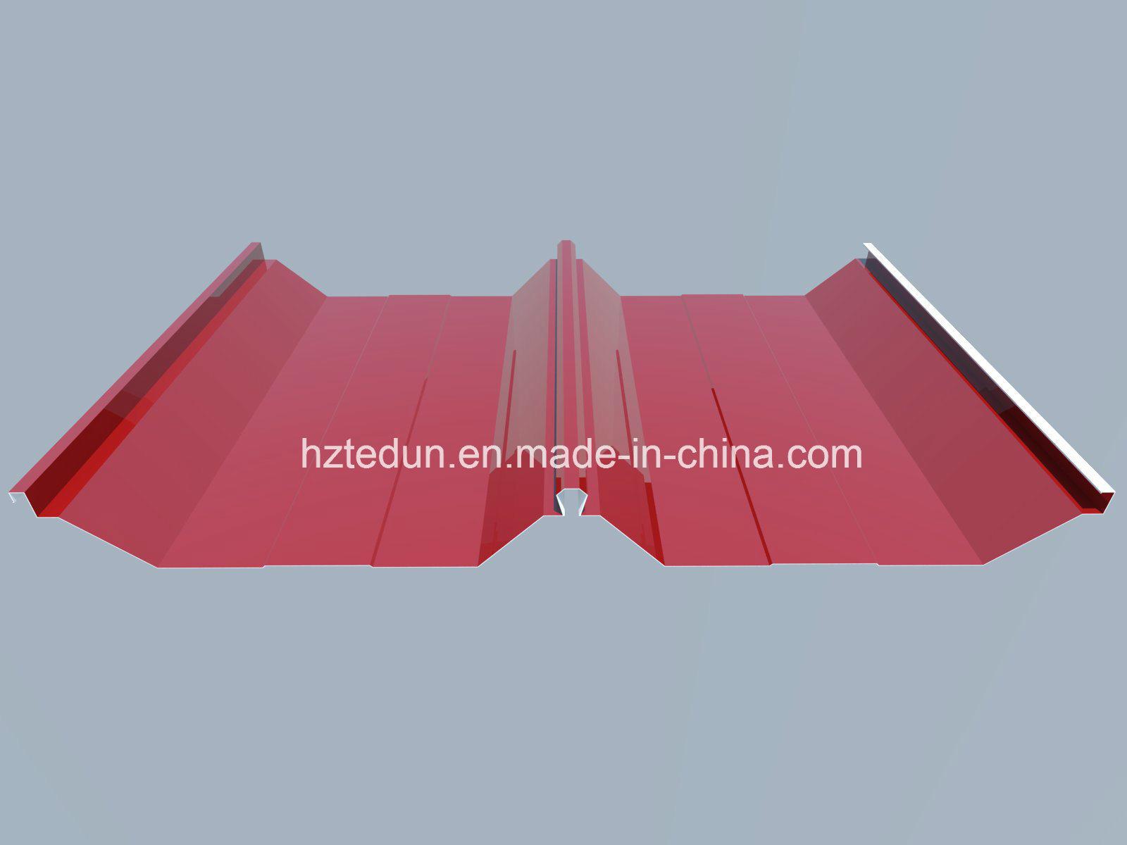 Prepainted Steel Standing Seam Roofing (ruby red3003)