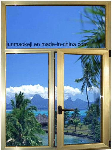 Aluminum Windows in Golden Color