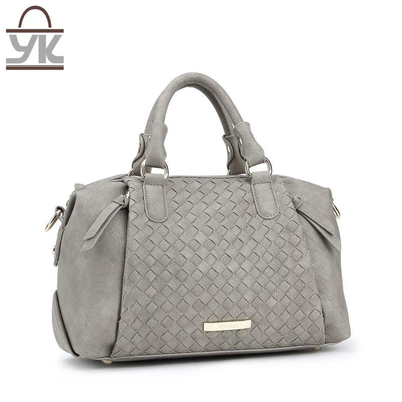 2017 Fashion Style PU Leather Ladies Woven Handbag
