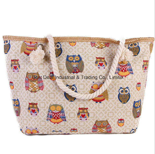 New Female Shoulder Bag Ladies Printing Large Canvas Beach Bag