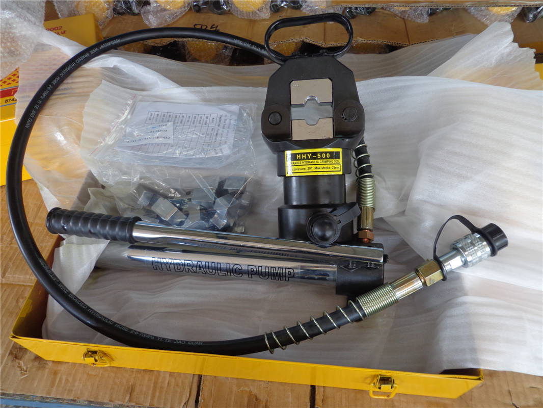 Hydraulic Manual Crimper with Separate Hand Pump (HHY-500)