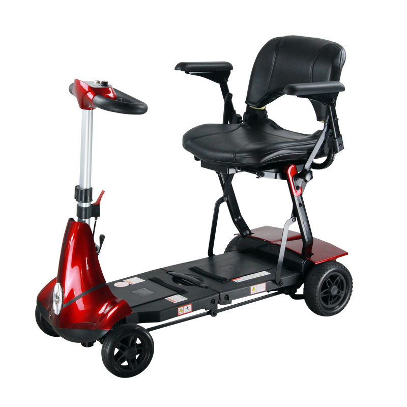 Four Wheels Compact Travel Foldable Scooter for The Disable